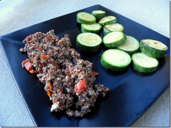 quinoa and zucchini