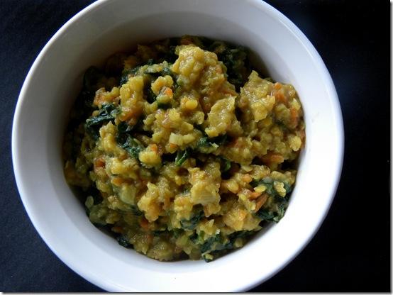 lentils with veggies