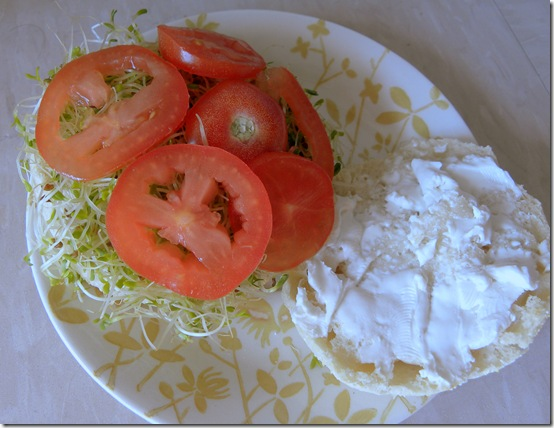 vegan cream cheese sandwich