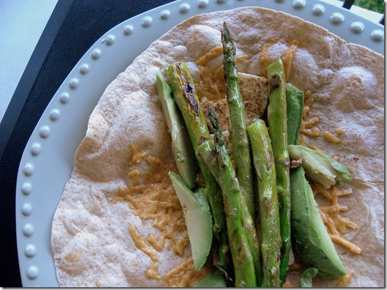 asparagus and avocado wrap