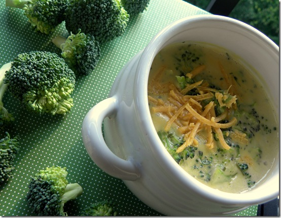 vegan broccoli cheese soup