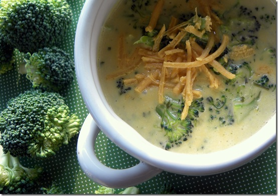 broccoli cheese soup with daiya