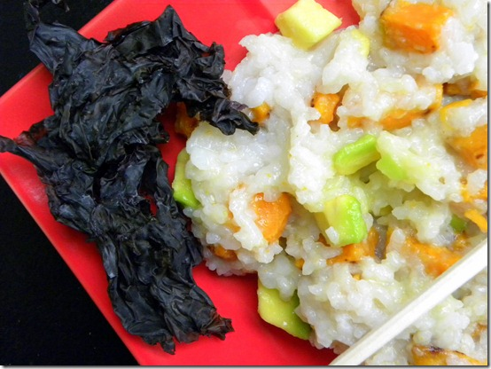 sticky rice and veggies