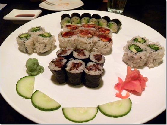 vegetarian sushi platter