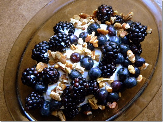 yogurt berries walnuts