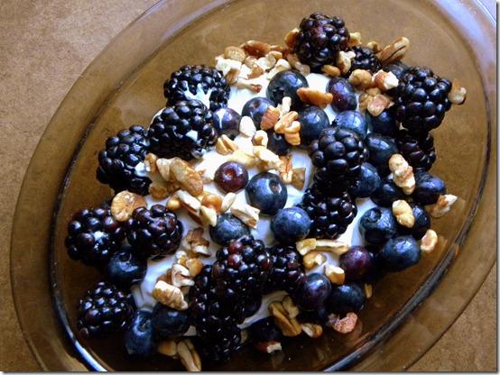 yogurt berries walnuts