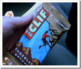 chocolate brownie clif bar