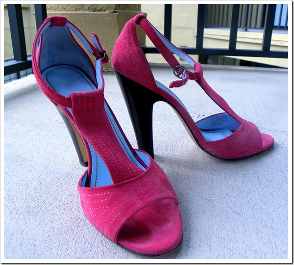 pink tracy reese pumps