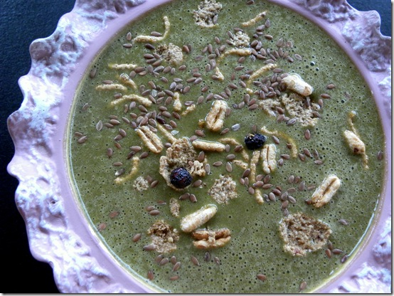 Green Smoothie with Cereal