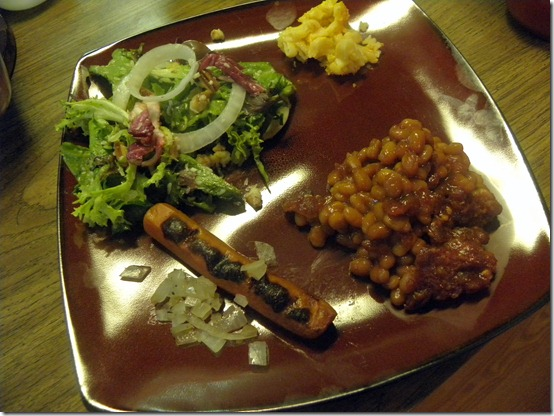 Vegetarian barbeque plate